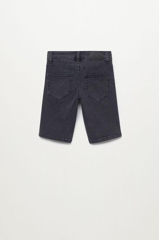 Mango Kids - Szorty jeansowe dziecięce John 110-164 cm szary