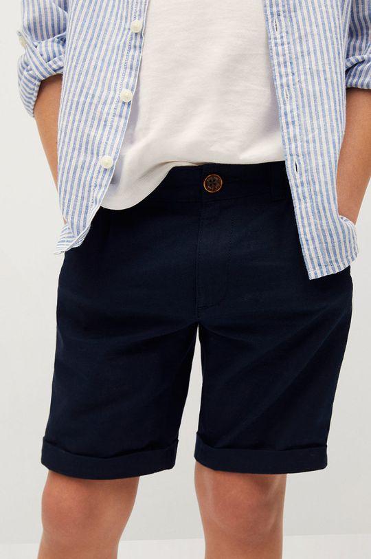 tmavomodrá Mango Kids - Detské krátke nohavice Calatea 110-164 cm Chlapčenský