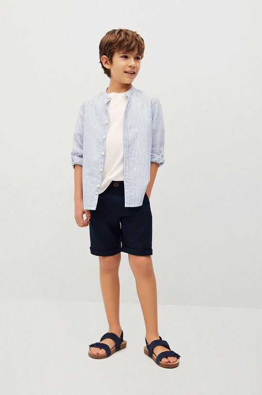Mango Kids - Detské krátke nohavice Calatea 110-164 cm tmavomodrá