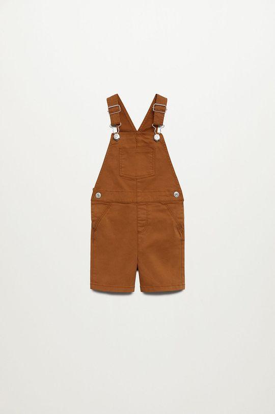 hnedá Mango Kids - Detské nohavice na traky Seth 80-104 cm Chlapčenský