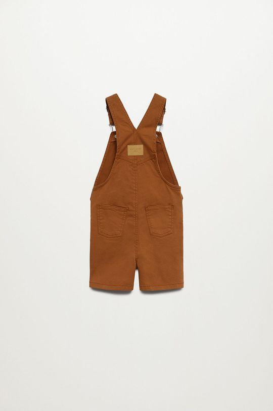 Mango Kids - Detské nohavice na traky Seth 80-104 cm hnedá