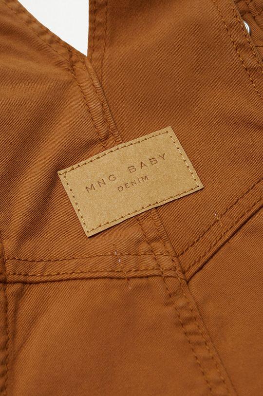 hnedá Mango Kids - Detské nohavice na traky Seth 80-104 cm