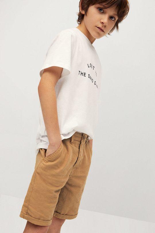 pszeniczny Mango Kids - Szorty dziecięce Linus 110-164 cm Chłopięcy