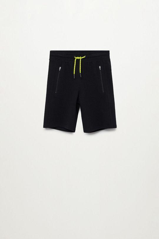 čierna Mango Kids - Detské krátke nohavice Run 116-164 cm Chlapčenský
