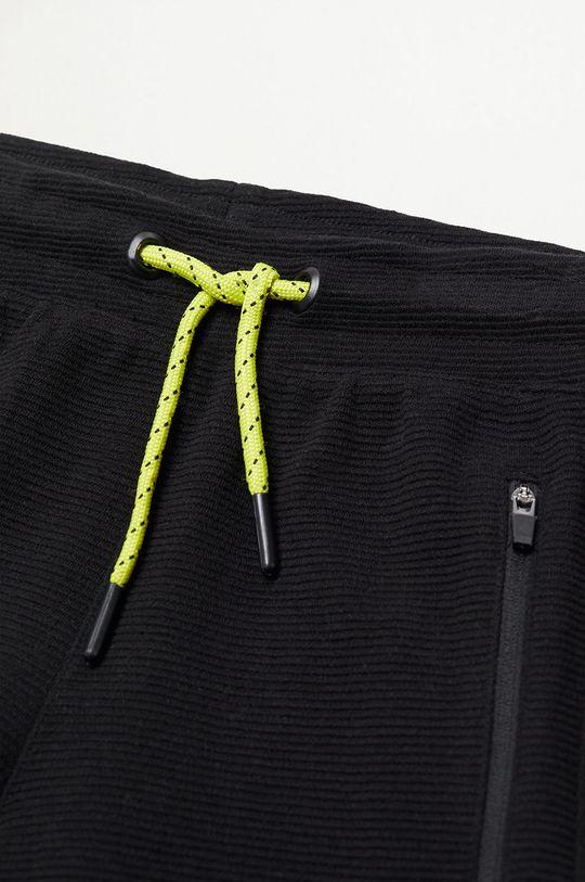 Mango Kids - Detské krátke nohavice Run 116-164 cm čierna