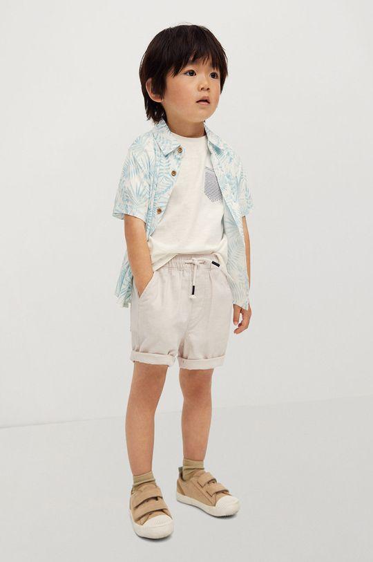 Mango Kids - Detské krátke nohavice Calatea 80-104 cm telová