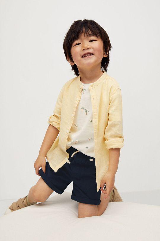 tmavomodrá Mango Kids - Detské krátke nohavice Calatea 80-104 cm Chlapčenský