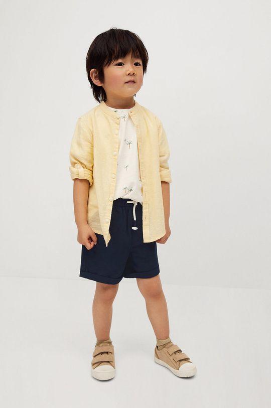 Mango Kids - Detské krátke nohavice Calatea 80-104 cm tmavomodrá