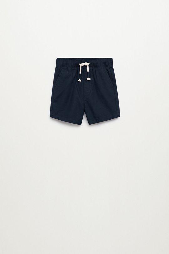 Mango Kids - Detské krátke nohavice Calatea 80-104 cm  92% Bavlna, 8% Ľan