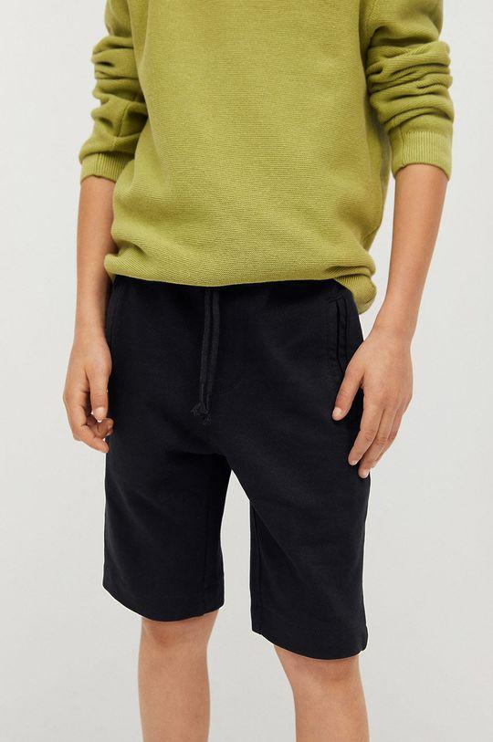 czarny Mango Kids - Szorty dziecięce Mark 110-164 cm Chłopięcy