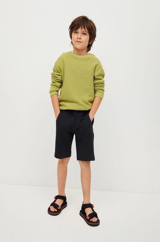 Mango Kids - Szorty dziecięce Mark 110-164 cm czarny