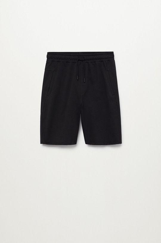 čierna Mango Kids - Detské krátke nohavice Bertt Chlapčenský
