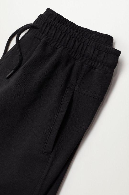 Mango Kids - Detské krátke nohavice Bertt čierna