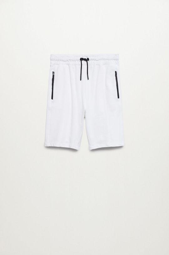 biela Mango Kids - Detské krátke nohavice Evan Chlapčenský