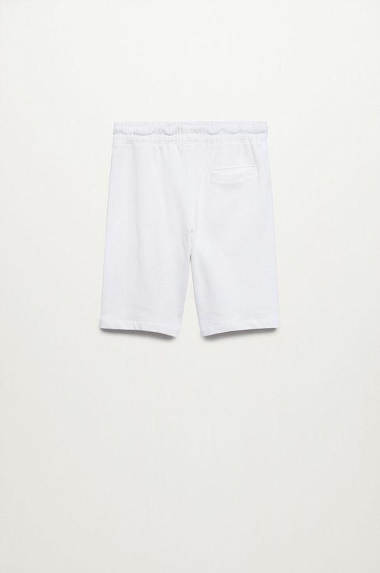 Mango Kids - Detské krátke nohavice Evan biela