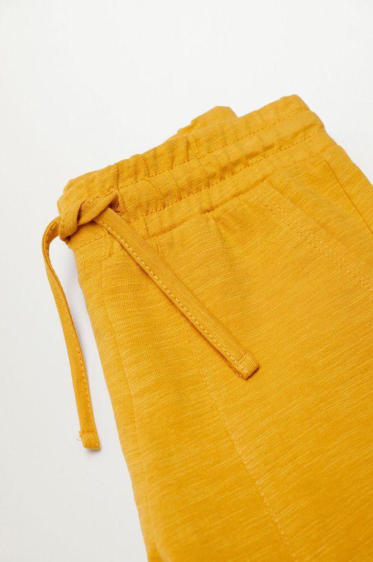 Mango Kids - Detské krátke nohavice Slub8 110-164 cm žltá