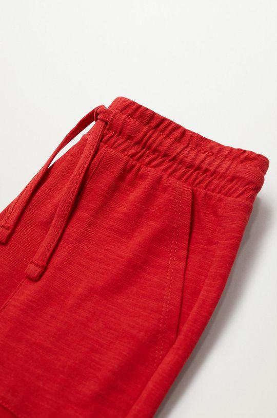 Mango Kids - Szorty dziecięce Slub8 110-164 cm czerwony