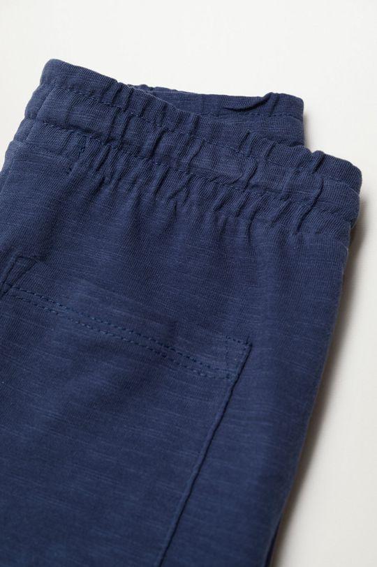 Mango Kids - Detské krátke nohavice Slub8 110-164 cm tmavomodrá