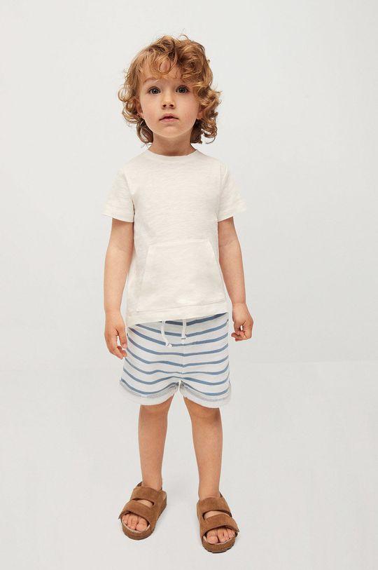 Mango Kids - Detské krátke nohavice Surfy8 80-104 cm biela