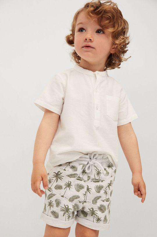 svetlosivá Mango Kids - Detské krátke nohavice Surfy8 80-104 cm Chlapčenský