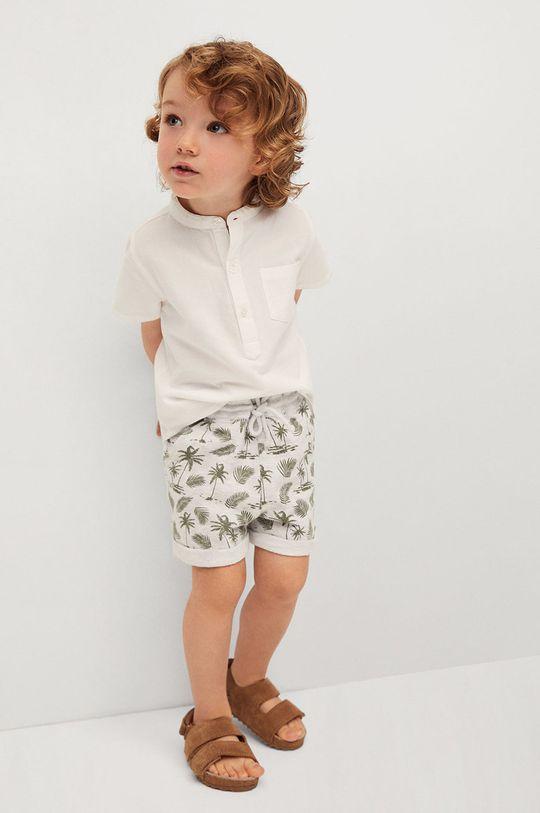Mango Kids - Detské krátke nohavice Surfy8 80-104 cm svetlosivá