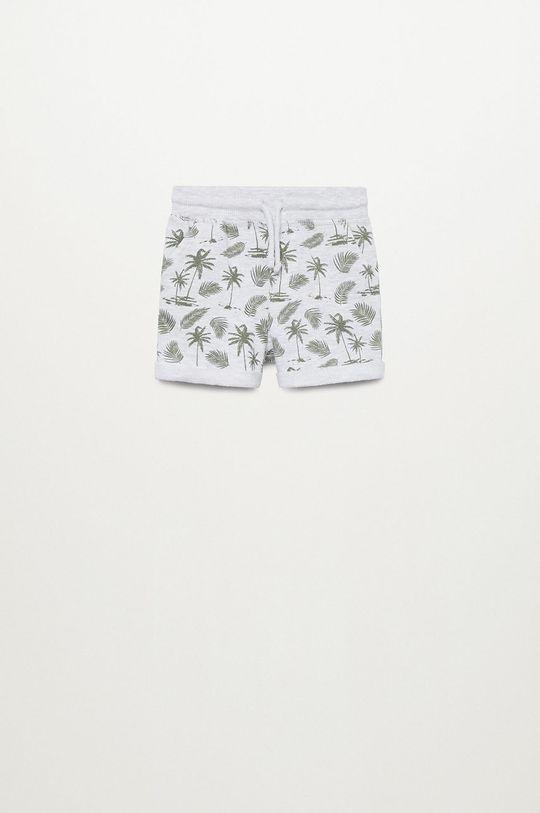 svetlosivá Mango Kids - Detské krátke nohavice Surfy8 80-104 cm