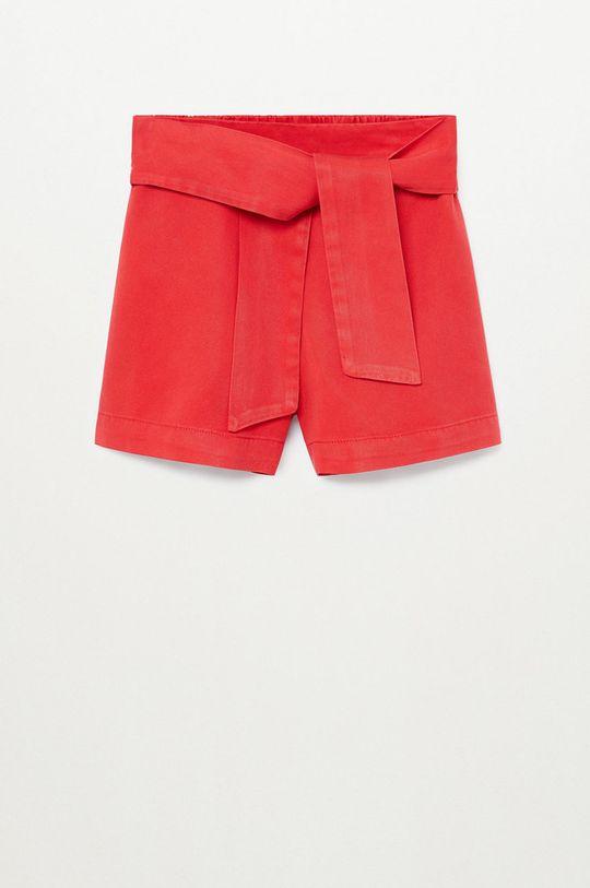 červená Mango Kids - Detské krátke nohavice LINE Dievčenský