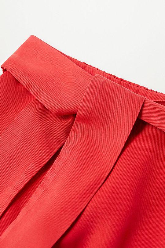 Mango Kids - Detské krátke nohavice LINE červená