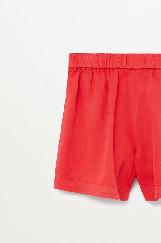 Mango Kids - Detské krátke nohavice LINE  100% Lyocell