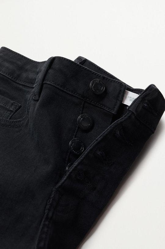 Mango Kids - Szorty jeansowe dziecięce Rose 98 % Bawełna, 2 % Elastan