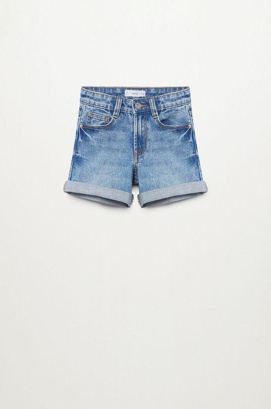 niebieski Mango Kids - Szorty jeansowe Chip 110-164 cm Dziewczęcy