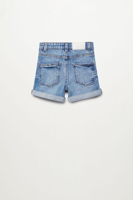 Mango Kids - Szorty jeansowe Chip 110-164 cm niebieski