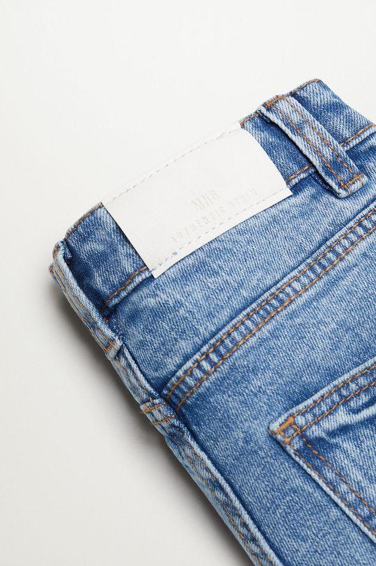 Mango Kids - Szorty jeansowe Chip 110-164 cm 99 % Bawełna, 1 % Elastan