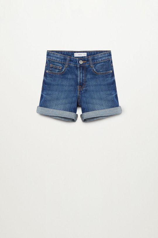morski Mango Kids - Szorty jeansowe Chip 110-164 cm Dziewczęcy