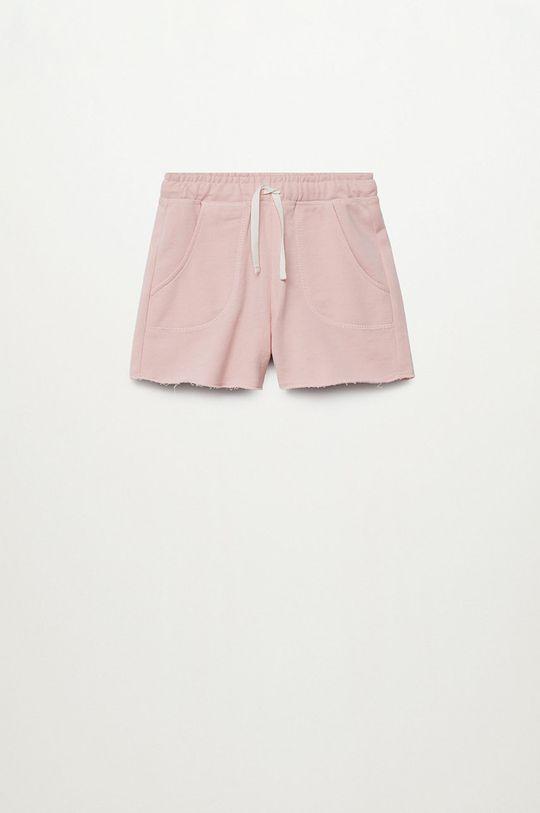 pastelowy różowy Mango Kids - Szorty dziecięce Lea8 116-164 cm Dziewczęcy