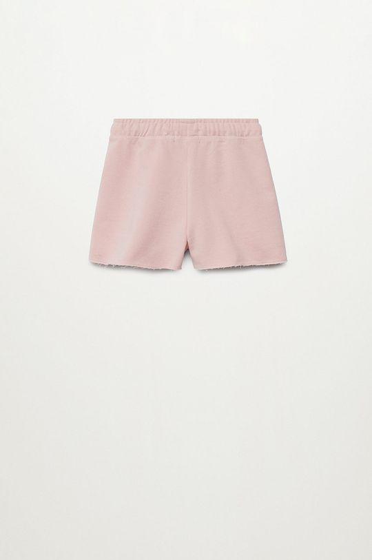 Mango Kids - Szorty dziecięce Lea8 116-164 cm pastelowy różowy