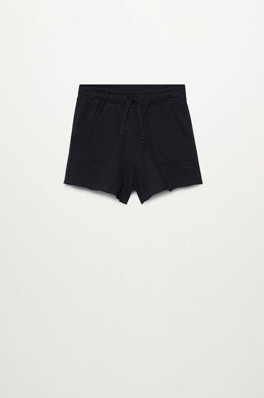čierna Mango Kids - Detské krátke nohavice Lea8 116-164 cm Dievčenský