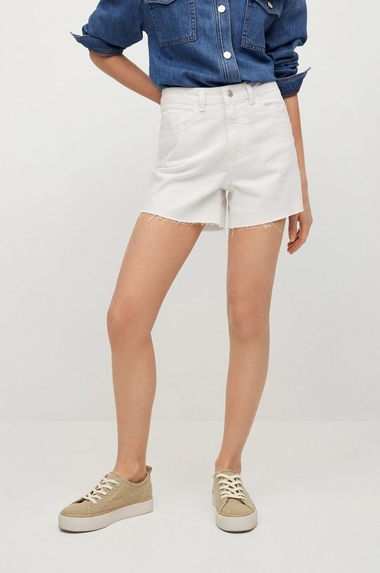 biały Mango Kids - Szorty jeansowe dziecięce Lauren Dziewczęcy