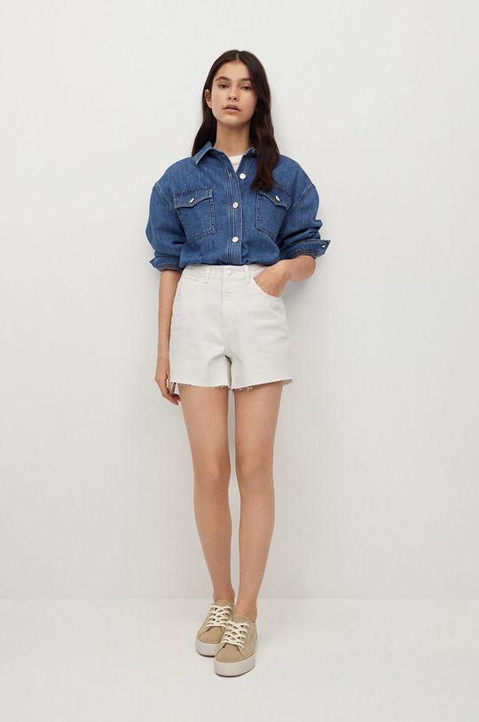 Mango Kids - Szorty jeansowe dziecięce Lauren biały