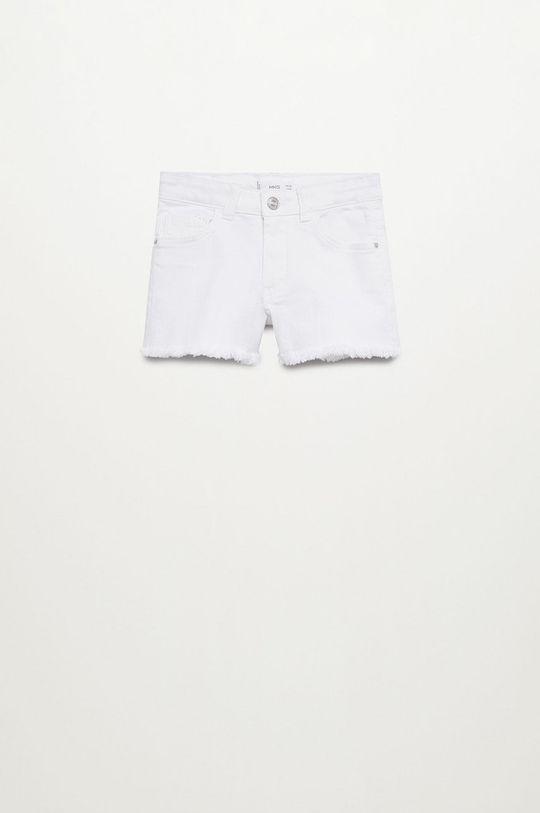 biały Mango Kids - Szorty jeansowe Patri 110-164 cm Dziewczęcy