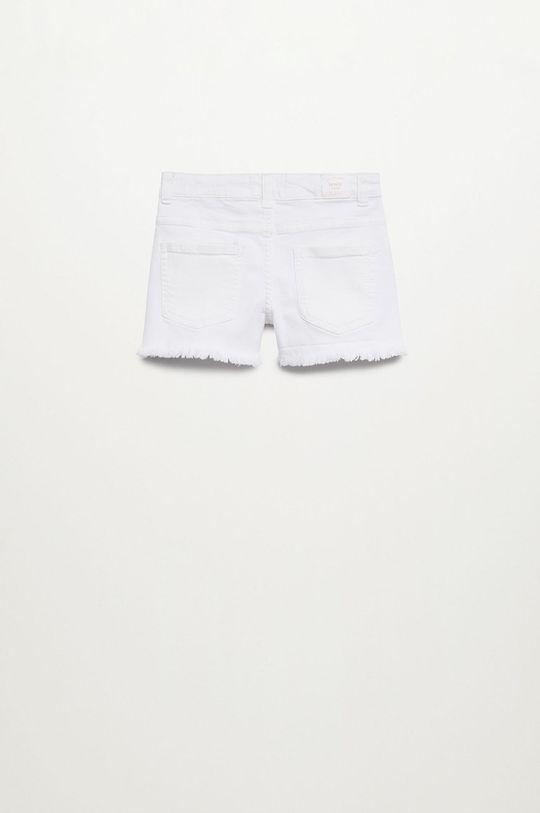 Mango Kids - Szorty jeansowe Patri 110-164 cm biały