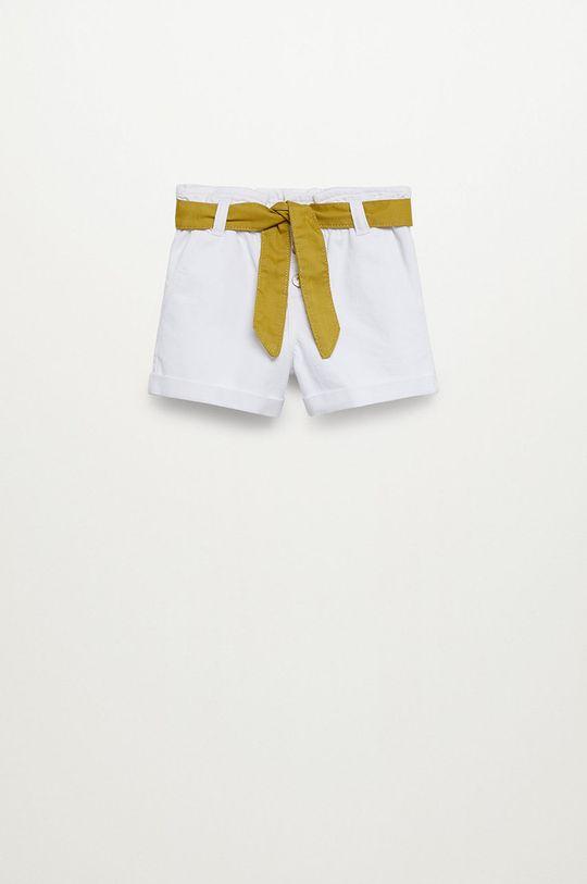biały Mango Kids - Szorty jeansowe dziecięce Gala 110-164 cm Dziewczęcy