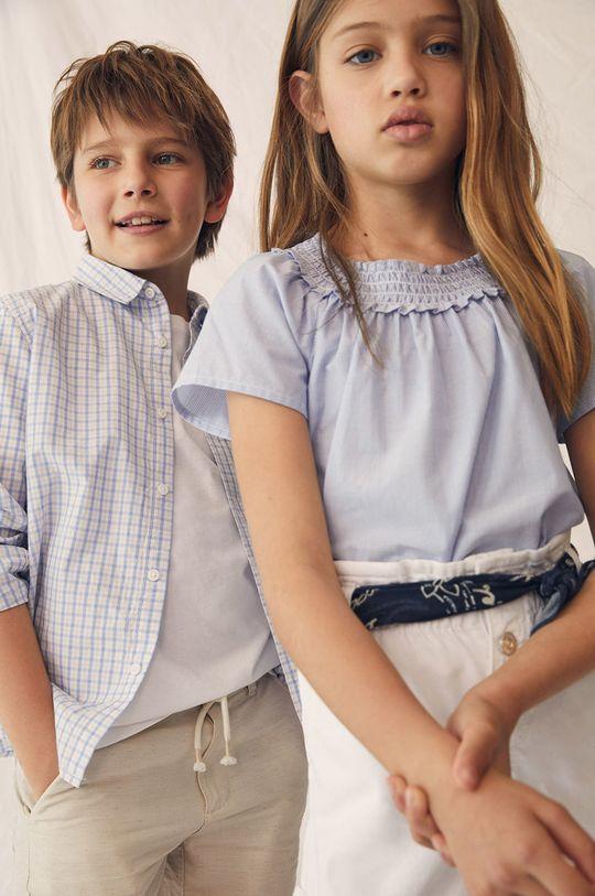 Mango Kids - Szorty jeansowe dziecięce Gala 110-164 cm biały