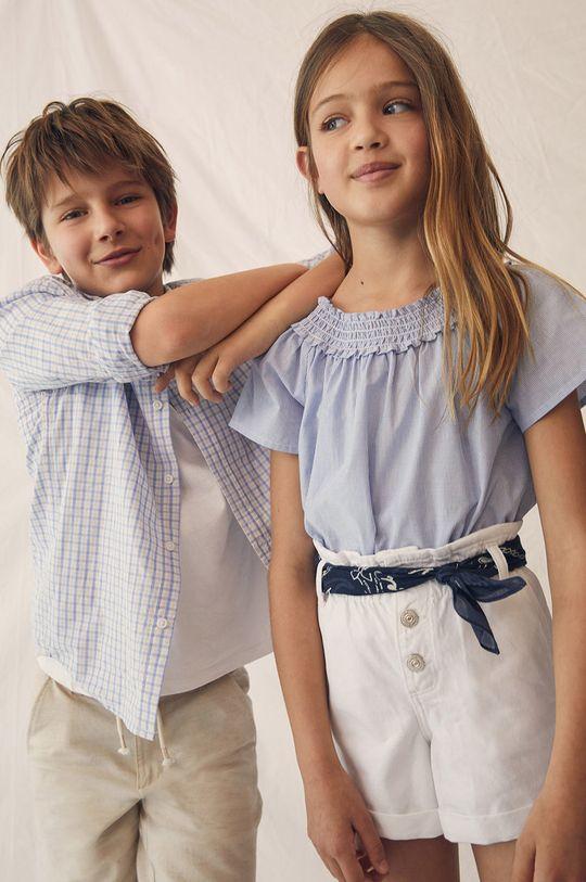 Mango Kids - Szorty jeansowe dziecięce Gala 110-164 cm 100 % Bawełna