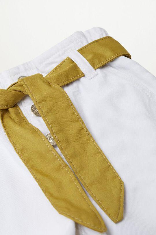 biały Mango Kids - Szorty jeansowe dziecięce Gala 110-164 cm