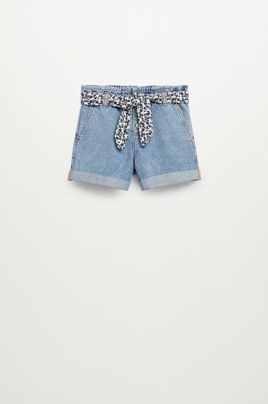 fioletowy Mango Kids - Szorty jeansowe dziecięce Gala 110-164 cm Dziewczęcy