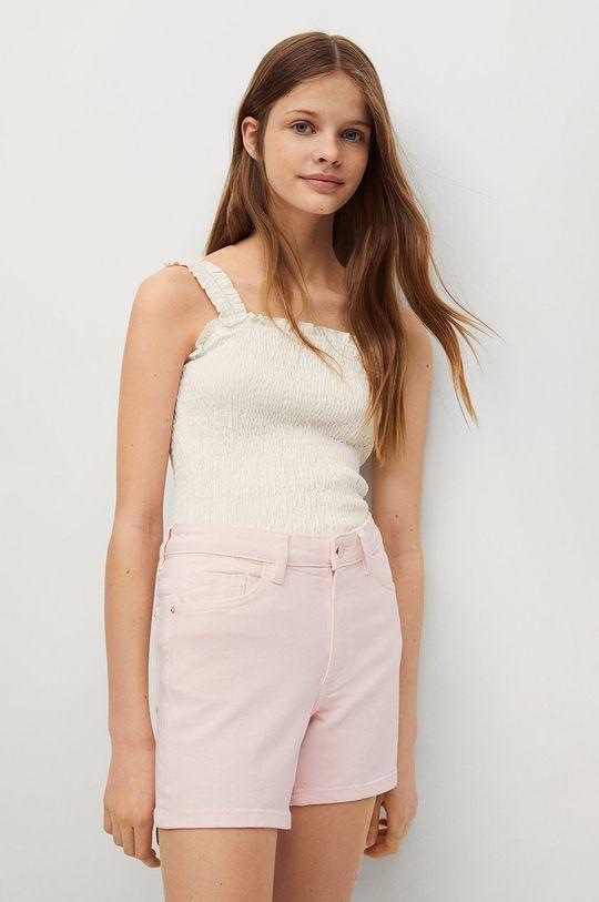 różowy Mango Kids - Szorty jeansowe dziecięce Emma Dziewczęcy