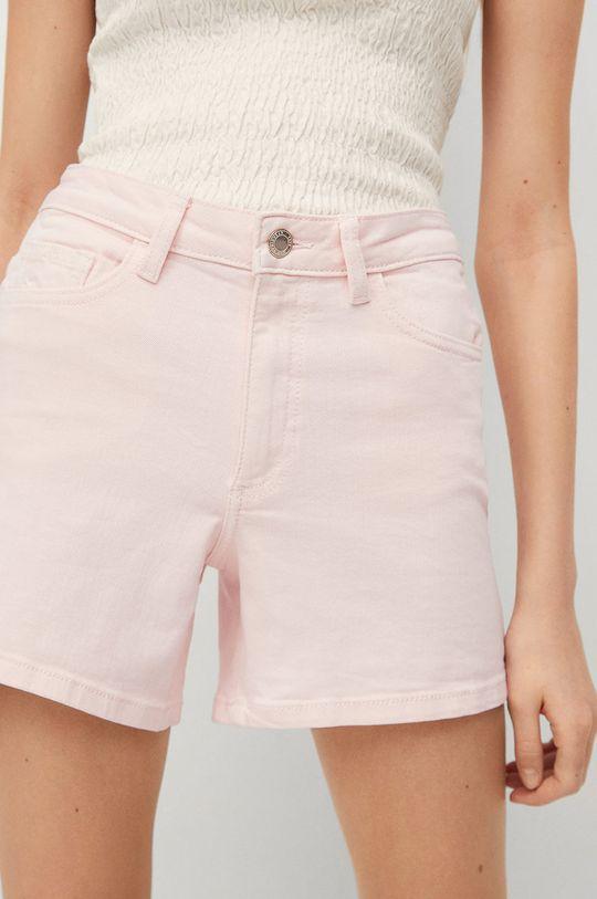 Mango Kids - Szorty jeansowe dziecięce Emma 99 % Bawełna, 1 % Elastan