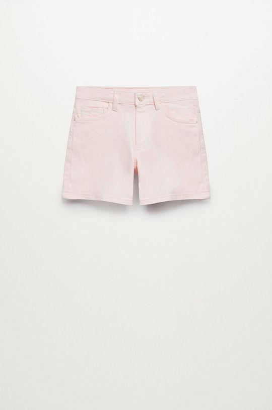 Mango Kids - Szorty jeansowe dziecięce Emma Dziewczęcy
