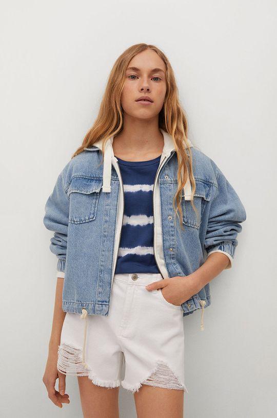 biały Mango Kids - Szorty jeansowe dziecięce Helen Dziewczęcy